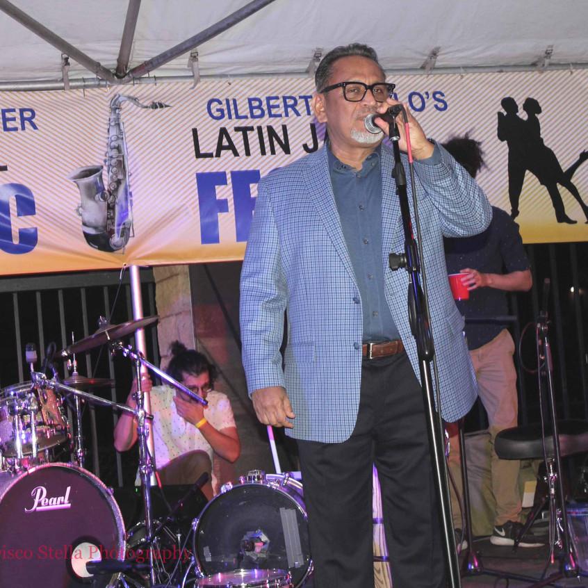 Councilman Gilbert Cedillo .on stage