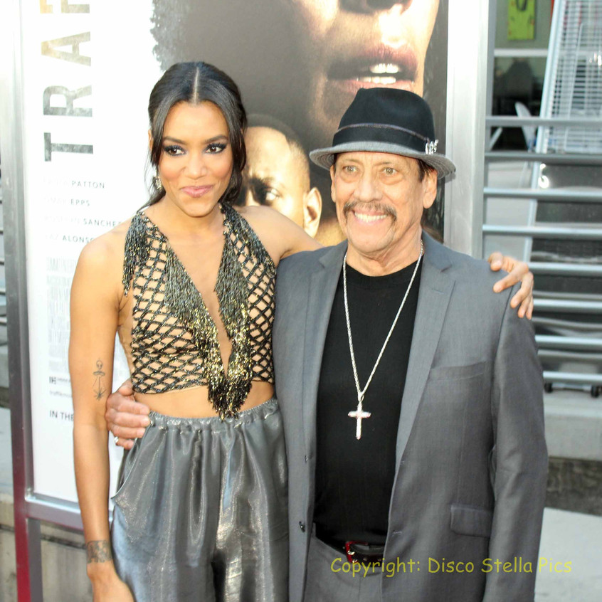 Annie Ilonzeh- Actress with Danny Trejo- Actor