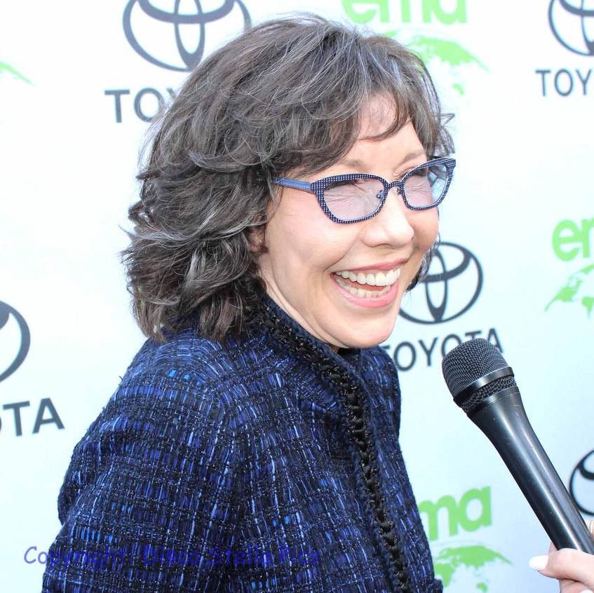 Lily Tomlin- Actress - Comedian - Being Interviewed.  1