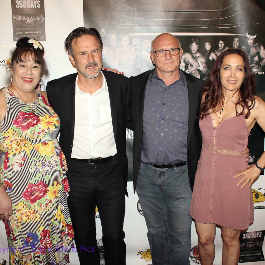 Royall Hawaiian, David Arquette, Filvio Cecere and Cheryl Rusa