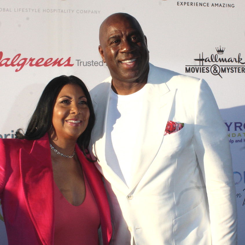 Magic Johnson and Cookie Johnson....