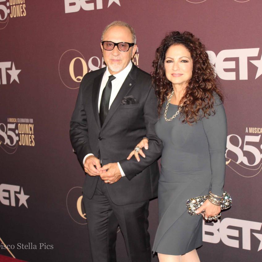 Emilio Estefan and Gloria Estefan on the
