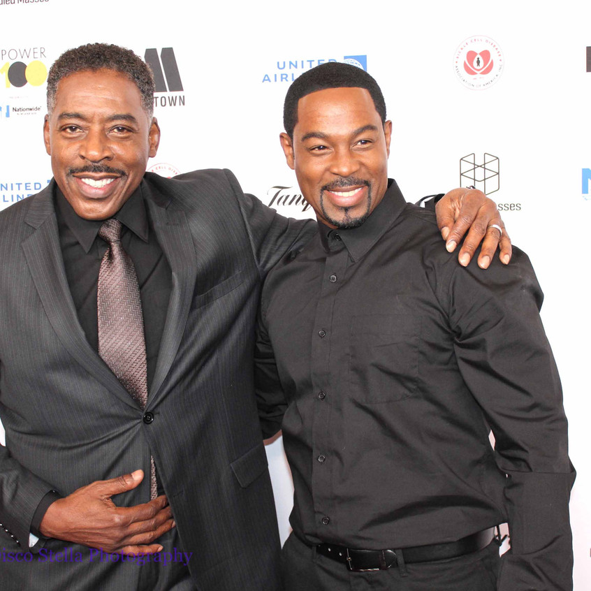 Ernie Hudson with Guest - on the carpet