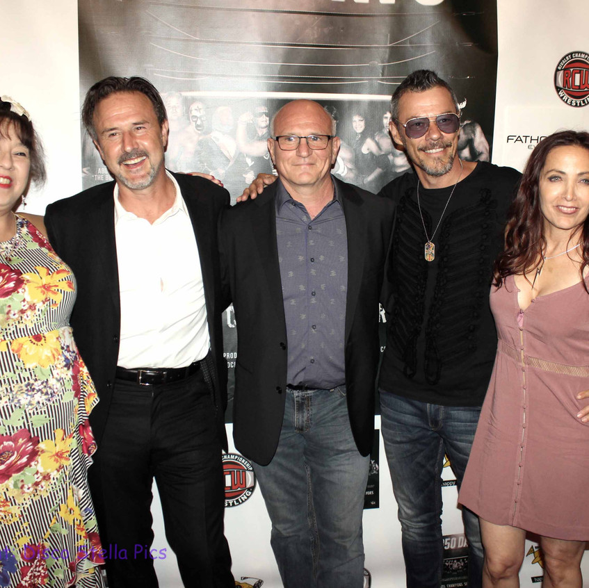 Royall Hawaiian, David Arquette, Filvio Cecere, Massi Furlan and Cheryl Rusa