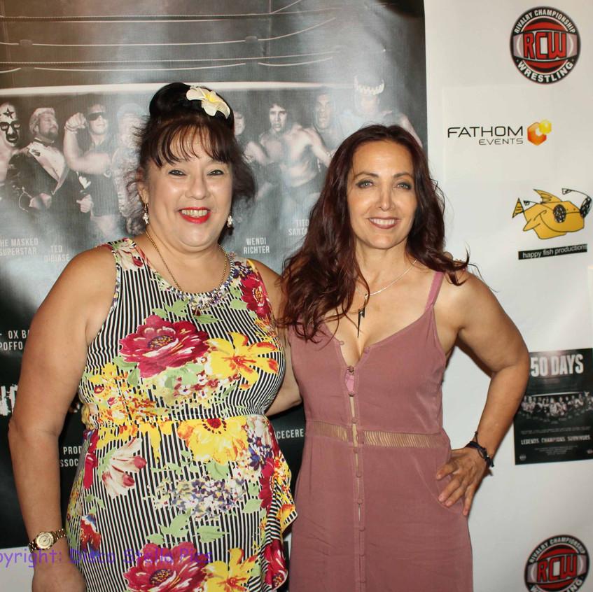 Royal Hawaiian and Cheryl Lighting Rusa - G.L.O.W. Wrestlers