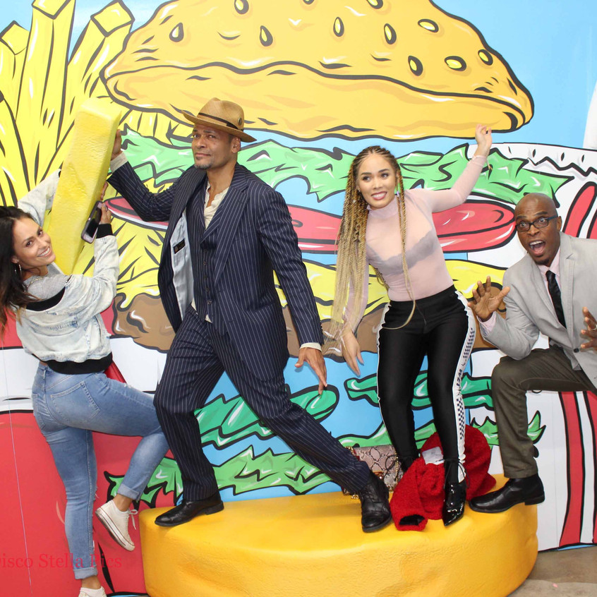 Actor Mario Van Peebles having fun with