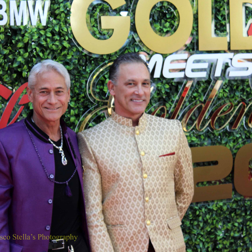 Greg Louganis and Johnny Chaillot....