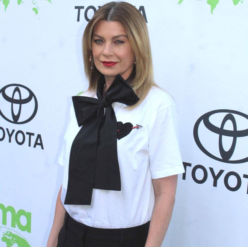 Ellen Pompeo - Actress -Host of EMA on carpet