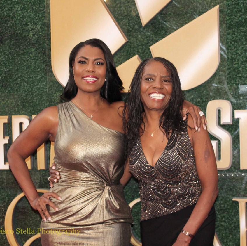 Omarosa Newman with Mom Theresa M