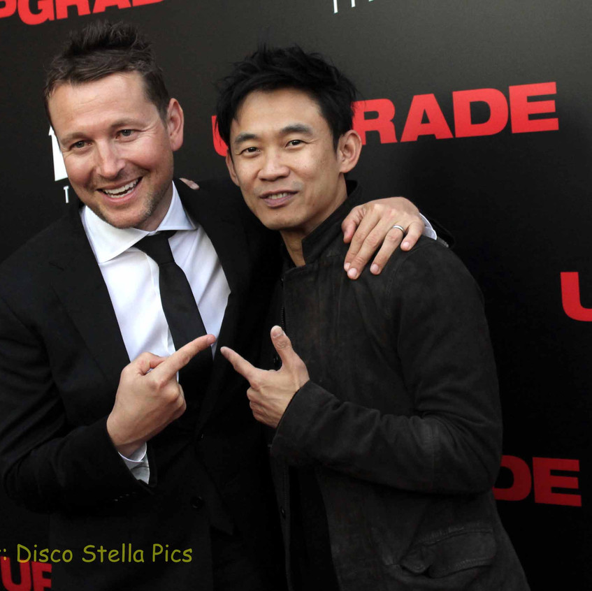 Leigh Whannell (Director - UPGRADE) and James Wan