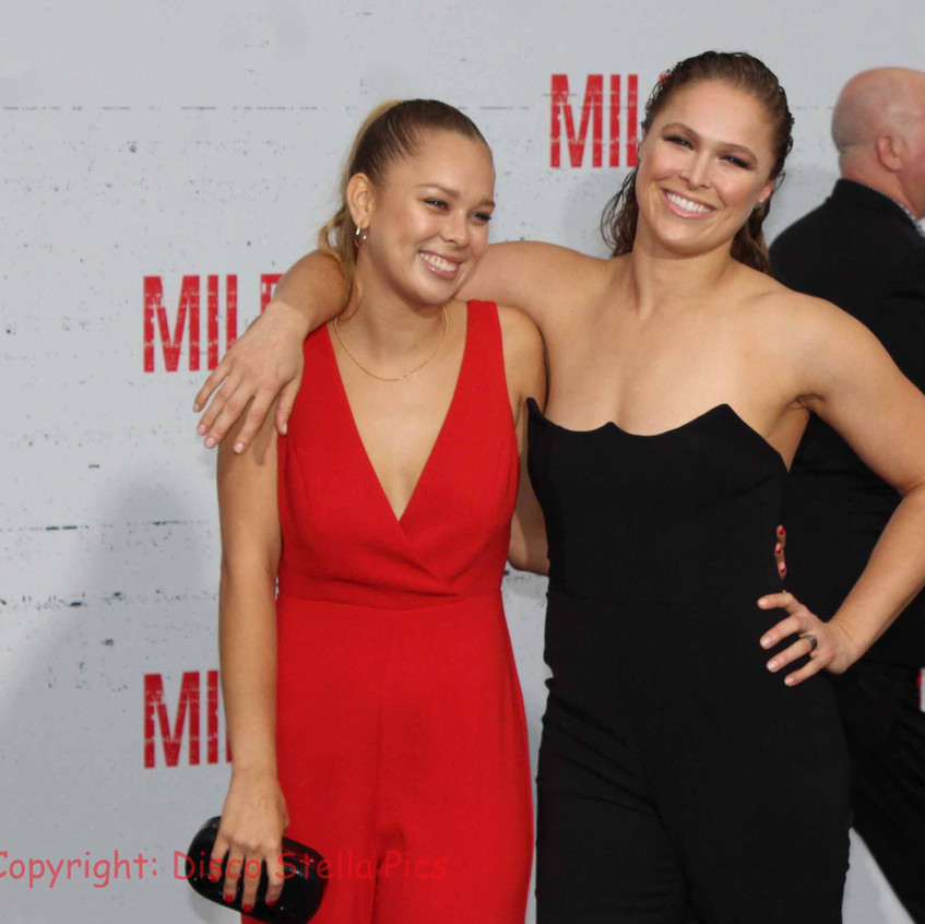 Ronda Rousey with guest