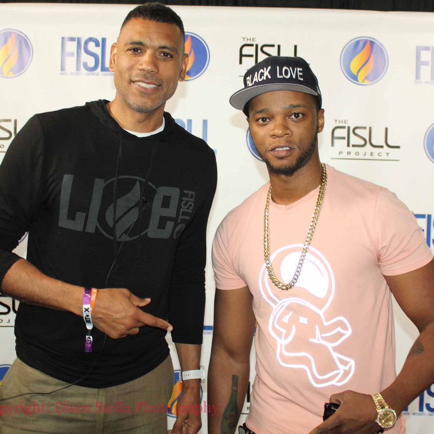 Allan Houston with guest Rapper