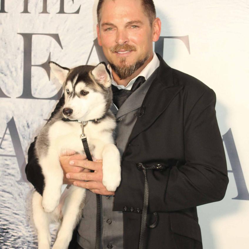 Brian Presley with Alaskan dog