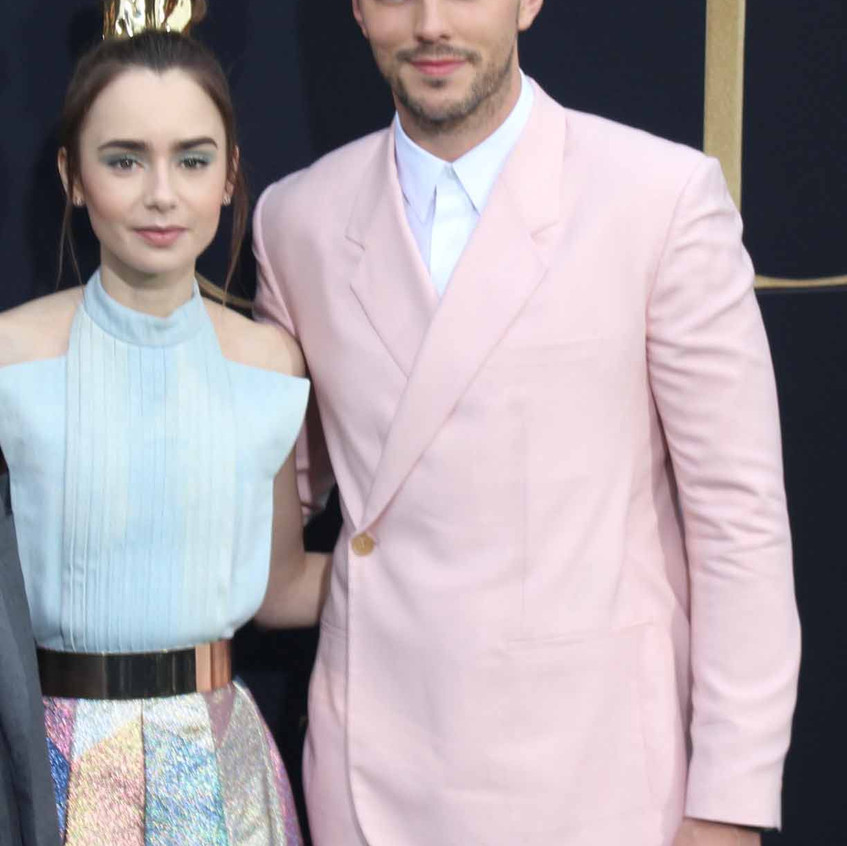 Nicholas Hoult and Lily Collins  .......