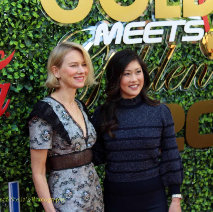 Naomi Watts and Kristi Yamaguchi........