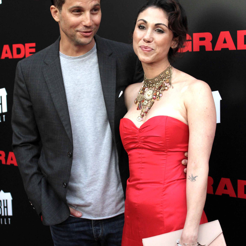 Logan Marshall-Green - Actor with Wife