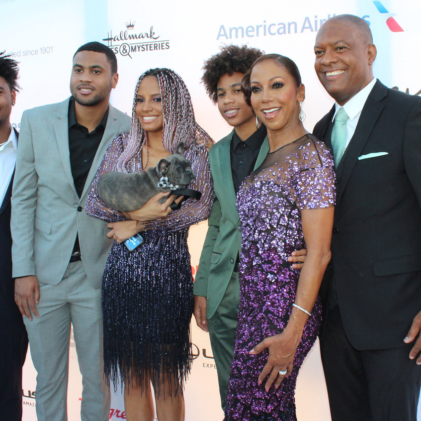 Holly Robinson Peete with family and fri