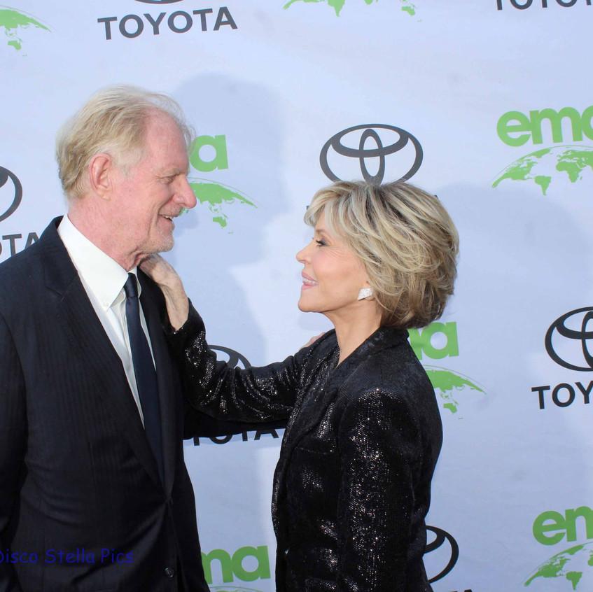 Ed Begley Jr. and Jane Fonda - Saying Hello