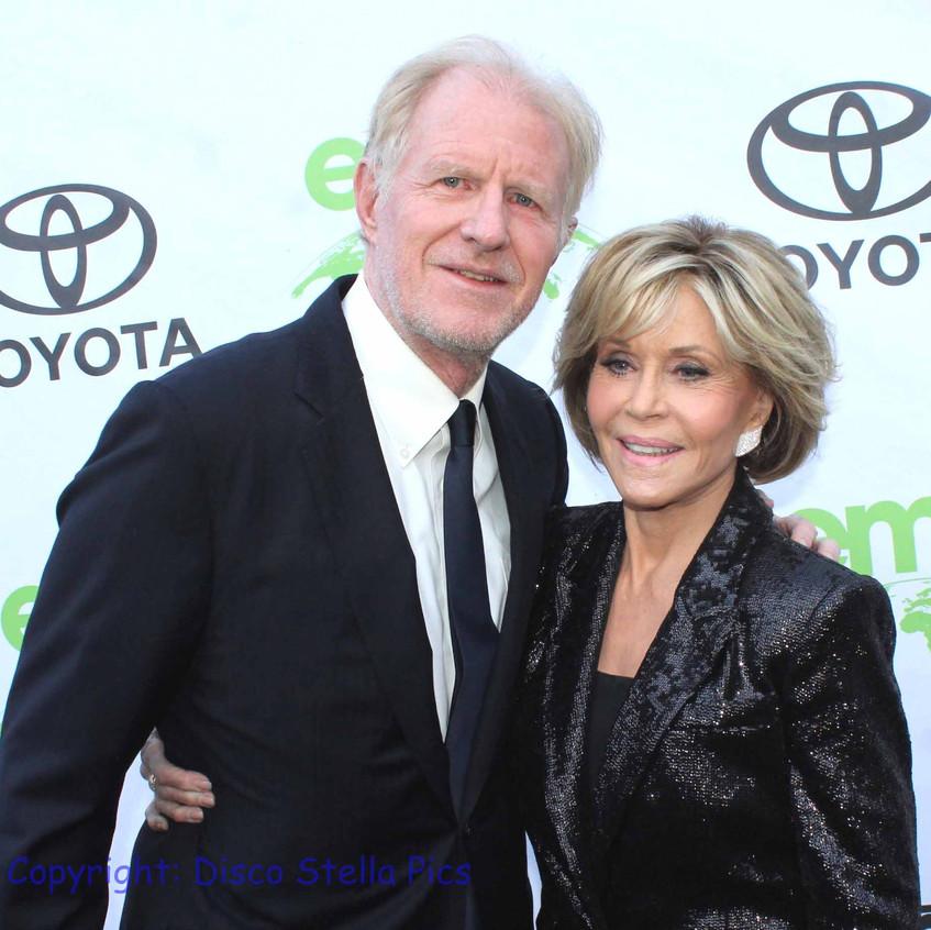 Ed Begley Jr. and Jane Fonda-  Green carpet