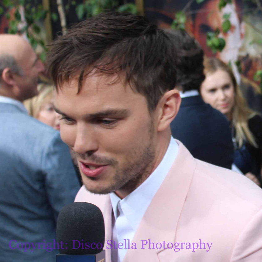 Nicolas Hoult - Actor - being interview.