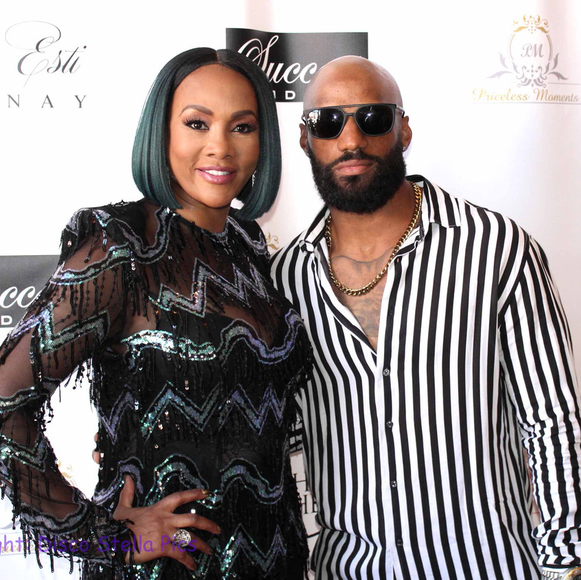 Vivica Fox with NFL Player
