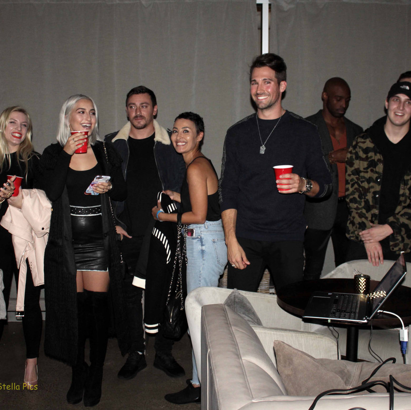James Maslow and guest at party