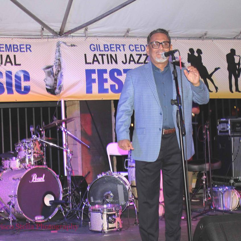 Councilman Gilbert Cedillo on stage