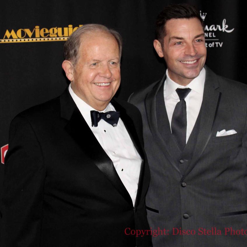 Dr. Ted Baehr with Actor BrennanElliott.