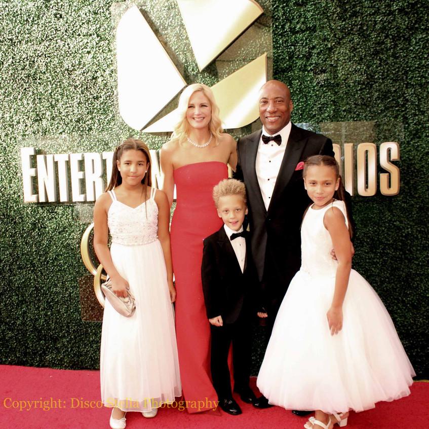 Byron Allen - Jennifer Lucas with family