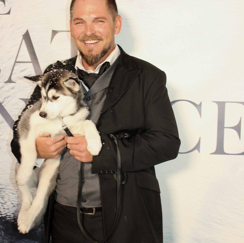 Brian Presley with Alaskan dog...