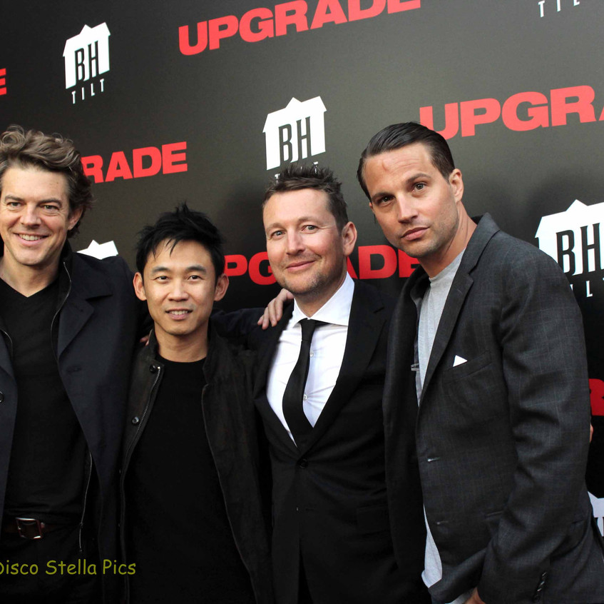 Jason Blum, James Wan, Leigh Whannell and Logan Mashall-Green  -UPGRADE