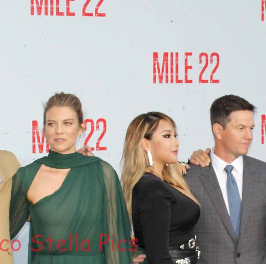 Mark Wahlberg with some of the cast