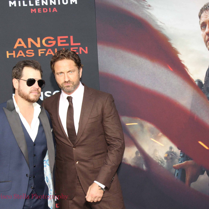 Gerard Butler with guest