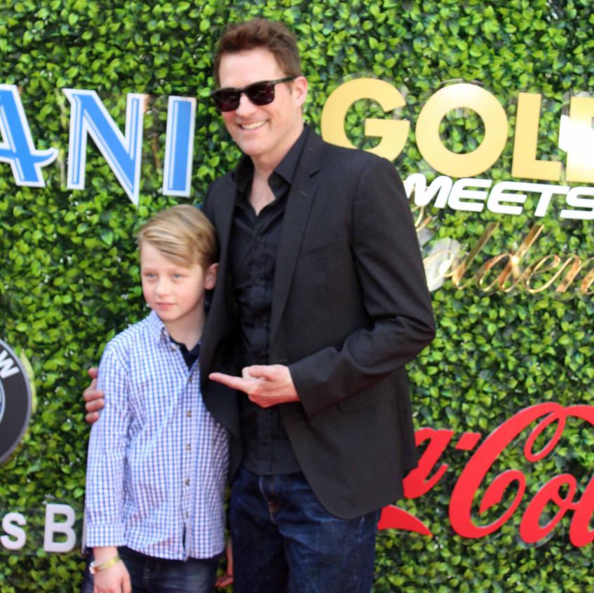 James Tupper - Actor with Son Atlas Tupp