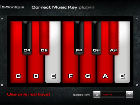 Correct Key plugin helps you write melodies in the correct musical key