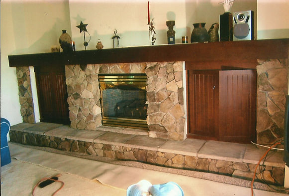 Indoor Fireplace with Hearth