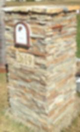 Ledgestone Mailbox