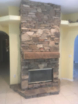 Drsytack Natural Stone Fireplace