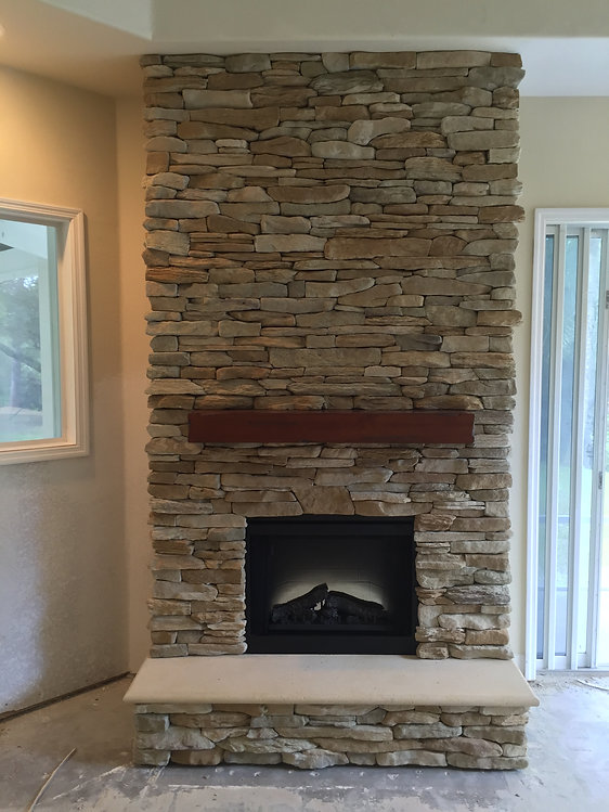 El dorado stone fireplace
