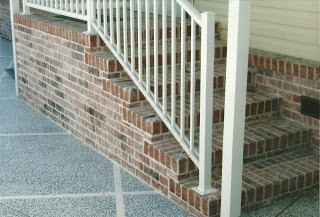 Upgrading existing concrete steps with Brick Veneer