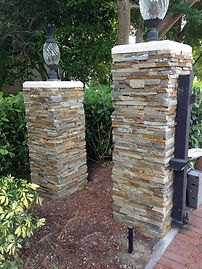 Ledge stone Columns Naples