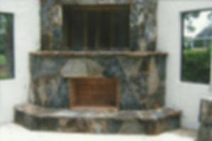 Gray Stone Fireplace