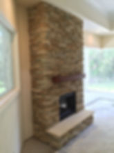 Fort Myers Stone Fireplace