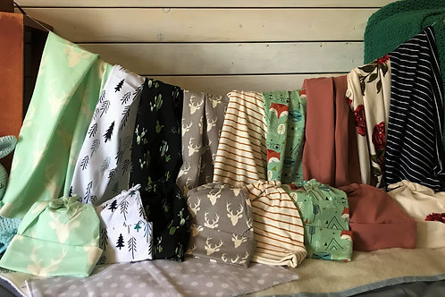Hat and Swaddle Set
