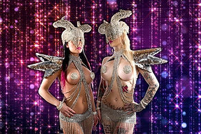 danseuses strass sexy, danseuses sexy strass, animation danseuses strass