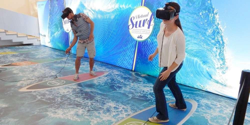 animation surf en réalité virtuelle