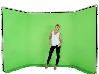 Animation Stand photo fond vert