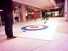 location piste de curling synthétique mobile pour soiree et evenement