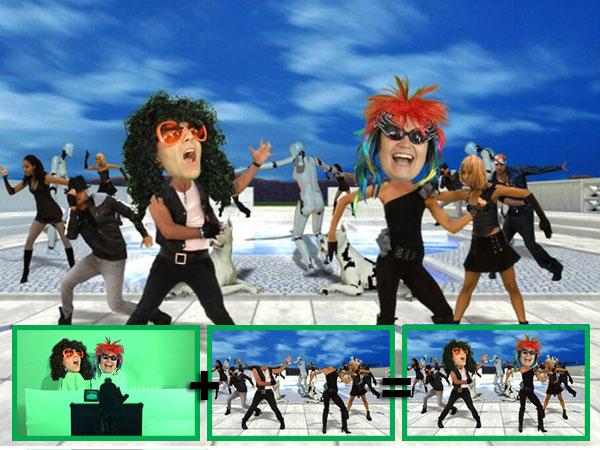 Animation vidéo Têtes Dansantes