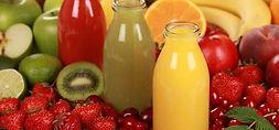 jus de fruis frais en bouteille
